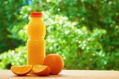 Πορτοκάλι και χυμός στον πίνακα Στοκ Εικόνα