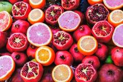 Πορτοκάλι και Apple ροδιών Στοκ Φωτογραφίες