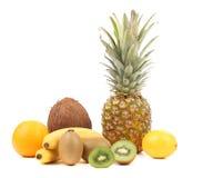 Πορτοκάλι καρύδων μπανανών ακτινίδιων λεμονιών Pineaplle. Στοκ φωτογραφία με δικαίωμα ελεύθερης χρήσης