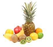 Πορτοκάλι καρύδων μπανανών ακτινίδιων λεμονιών Pineaplle. στοκ εικόνες με δικαίωμα ελεύθερης χρήσης