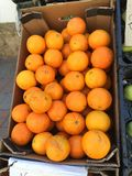 πορτοκάλι κιβωτίων Στοκ Εικόνες