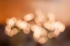 Πορτοκάλι κρητιδογραφιών φω'των Defocused Στοκ Φωτογραφίες