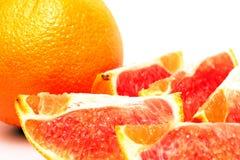 Πορτοκάλι με το άσπρο υπόβαθρο Στοκ Εικόνα