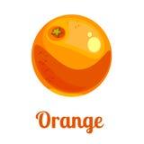 Πορτοκάλι λογότυπων κινούμενων σχεδίων διανυσματική απεικόνιση