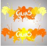 Πορτοκάλι παφλασμών χρώματος τίτλων, κόκκινο, κίτρινο Στοκ Φωτογραφίες