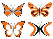Πορτοκάλι πεταλούδων Στοκ Εικόνες