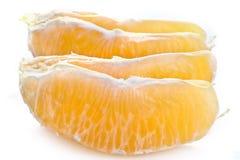 Πορτοκάλι που καθαρίζεται Στοκ φωτογραφίες με δικαίωμα ελεύθερης χρήσης