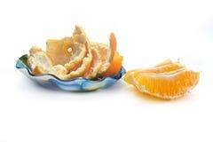 Πορτοκάλι που καθαρίζεται Στοκ Εικόνα