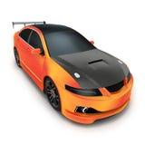 Πορτοκάλι σπορ αυτοκίνητο Στοκ Εικόνα