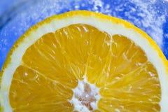 Πορτοκάλι στον πάγο p4 Στοκ Εικόνες