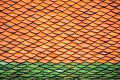 Πορτοκάλι σχεδίων στεγών ναών και πράσινος, Ταϊλάνδη Υπόβαθρο Στοκ φωτογραφίες με δικαίωμα ελεύθερης χρήσης