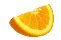 Πορτοκάλι τετάρτων που απομονώνεται Στοκ Φωτογραφίες