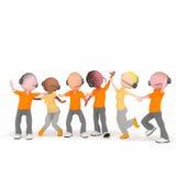 Πορτοκάλι τηλεφωνικών κέντρων bisness χειριστών Στοκ Εικόνα
