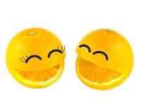 Πορτοκάλι χαμόγελου Στοκ φωτογραφία με δικαίωμα ελεύθερης χρήσης
