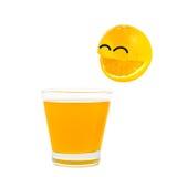Πορτοκάλι χαμόγελου Στοκ φωτογραφίες με δικαίωμα ελεύθερης χρήσης