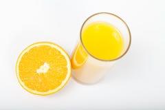 πορτοκάλι χυμού γυαλιο Στοκ Εικόνα
