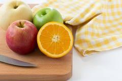 Πορτοκάλι, Apple και κινεζικό αχλάδι Στοκ Εικόνες