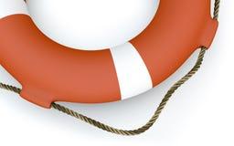 Πορτοκάλι lifebuoy Στοκ Εικόνες