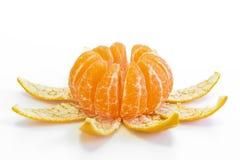 Πορτοκάλι Madarin σε ένα άσπρο υπόβαθρο Στοκ φωτογραφία με δικαίωμα ελεύθερης χρήσης