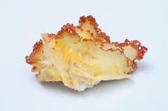 Πορτοκάλι vanadinite στο μετάλλευμα βαρυτινών Στοκ φωτογραφίες με δικαίωμα ελεύθερης χρήσης