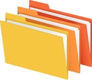 πορτοκαλής κίτρινος γραμματοθηκών αρχείων Στοκ Φωτογραφίες