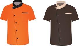 Πορτοκαλής και καφετής αρχιμάγειρας ομοιόμορφος ελεύθερη απεικόνιση δικαιώματος