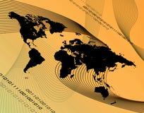 πορτοκαλής κόσμος montage διανυσματική απεικόνιση