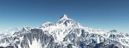 πορτοκαλής ουρανός πανοράματος βουνών φίλτρων στοκ φωτογραφίες