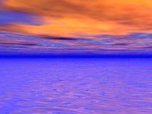 πορτοκαλής ουρανός απεικόνιση αποθεμάτων