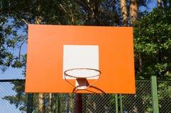 Πορτοκαλής πίνακας καλαθοσφαίρισης Στοκ φωτογραφία με δικαίωμα ελεύθερης χρήσης