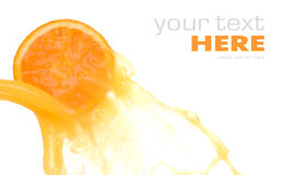 πορτοκαλής παφλασμός φε Στοκ Εικόνες