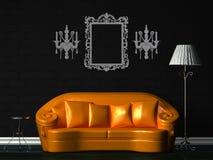 πορτοκαλής πρότυπος πίνα&kap απεικόνιση αποθεμάτων