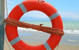 Πορτοκαλής σημαντήρας ζωής θαλασσίως στοκ εικόνες με δικαίωμα ελεύθερης χρήσης