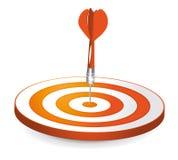 πορτοκαλής στόχος ελεύθερη απεικόνιση δικαιώματος