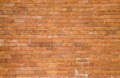 πορτοκαλής τοίχος τούβλου ανασκόπησης Στοκ Φωτογραφίες