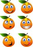 Πορτοκαλής χαρακτήρας κινουμένων σχεδίων Στοκ Εικόνα