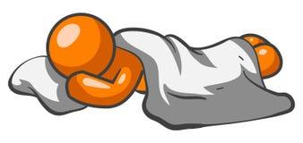 πορτοκαλής ύπνος ατόμων Στοκ φωτογραφία με δικαίωμα ελεύθερης χρήσης