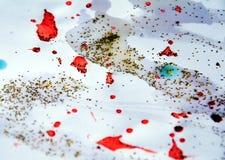 Πορτοκαλί άσπρο χρυσό ζωηρόχρωμο υπόβαθρο Χριστουγέννων και αργυροειδή φω'τα σπινθηρίσματος Στοκ εικόνες με δικαίωμα ελεύθερης χρήσης
