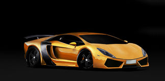 Πορτοκαλί έξοχο αυτοκίνητο Στοκ Εικόνα