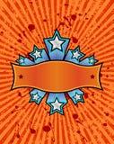 πορτοκαλί αστέρι εμβλημάτ διανυσματική απεικόνιση