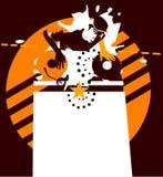 πορτοκαλί αστέρι του DJ απεικόνιση αποθεμάτων