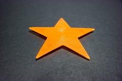πορτοκαλί αστέρι Στοκ Φωτογραφίες