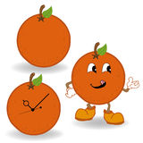 Πορτοκαλί διάνυσμα κινούμενων σχεδίων Στοκ εικόνα με δικαίωμα ελεύθερης χρήσης