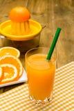 πορτοκαλί διάνυσμα χυμού απεικόνισης γυαλιού Στοκ Φωτογραφία