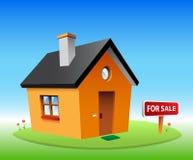 Πορτοκαλί διανυσματικό σπίτι ελεύθερη απεικόνιση δικαιώματος