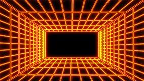 Πορτοκαλί ηλεκτρικό γραφικό στοιχείο περιβάλλοντος δωματίων πλέγματος απόθεμα βίντεο