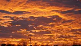 Πορτοκαλί ηλιοβασίλεμα Dreamtime στοκ φωτογραφίες