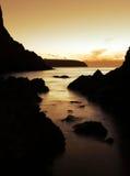 πορτοκαλί ηλιοβασίλεμ&alp στοκ εικόνες