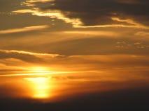 πορτοκαλί ηλιοβασίλεμ&alp Στοκ φωτογραφίες με δικαίωμα ελεύθερης χρήσης