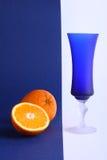Πορτοκαλί και μπλε γυαλί Στοκ Εικόνες